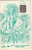 FRENCH POLYNESIA - Vahine Verte 60 Unites, No Petit Embouti, CN : 36210, Tirage %90000, 01/92, Used - French Polynesia