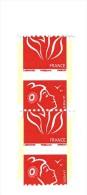 Lamouche TVP Rouge De Roulette Philaposte YT 3743a PAPIER LUMINESCENT Paire Piquage à Cheval . Maury N° 3970 A >> 120  € - Abarten: 2000-09 Ungebraucht