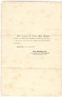 IL MIO FIDANZAMENTO CON MISS./ MEINE VERLOBUNG MIT FRAULEIN MARIE DETTMAR / OTTO MATTHIESSEN, HALBERSTADT, 1863, - Fidanzamento