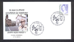 6.- 051 ITALY ITALIA 2013. SPECIAL POSTMARK. SCOUT TEAM OF ODERZO. SIR BADEN POWEL. - Movimiento Scout