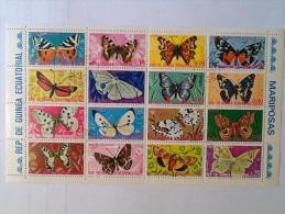 Guinée équatorial Guinea Ecuatorial  Papillon Butterfly Block - Guinée Equatoriale