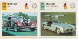COLLECTOR CARDS: GRAND TOURISME - DUITSLAND: MERCEDES 300 SL 'VLEUGELDEUR' & MERCEDES 540 K - Auto's