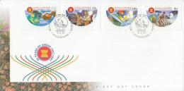 Singapore Stamp FDC: 1997 30 Years Of ASEAN SG122808 - Singapore (1959-...)