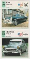 COLLECTOR CARDS - USA : BUICK ROADMASTER RIVIERA ('54) & CHEVROLET 2400 BEL AIR SEDAN ('53)  - USA - Automobili