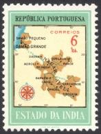 Portuguese India, 6 R. 1957, Sc # 553, Mi # 518, MH - Portuguese India