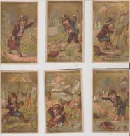 Guerin-Boutron.artiste Peintre. Série De 6 Chromos Fond Or,numerotée. - Guérin-Boutron