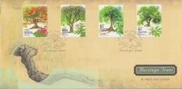 Singapore Stamp FDC: 2002 Heritage Trees SG122793 - Singapore (1959-...)
