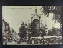Bruxelles Place Et Eglise Sainte-Catherine - Marchés