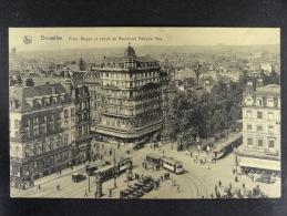 Bruxelles Place Rogier Et Entrée Du Boulevard Adolphe Max - Avenues, Boulevards