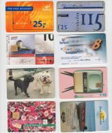 8 Telefoonkaarten NEDERLAND:  HOLLAND MIX  - Phonecards (2 Scans) - Verzamelingen