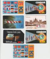 7 Unsorted Phonecards - 7 Telefoonkaarten - Divers Allerlei  (2 Scans) - Verzamelingen