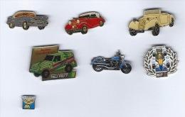 7 PINS  Voitures Moto Et Autres - Badges