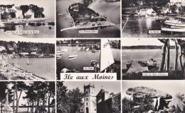 CPSM ILE AUX MOINES(56)19/8/63-multivues-14x9-dentelée - Ile Aux Moines
