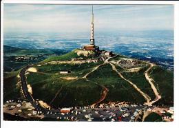 Carte  ( Format 15 X 10,5 Cm )  Le  Puy De Dôme  Le Sommet Et Le Relais De Télévision  ( Recto Verso ) - Non Classificati