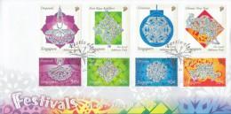 Singapore Stamp FDC: 2002 Festivals SG122789 - Singapore (1959-...)