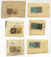 Timbres Fiscaux Avec Cachets - Revenue Stamps
