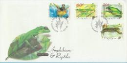 Singapore Stamp FDC: 1999 Amphibians & Reptiles SG122780 - Singapore (1959-...)