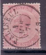 N°20 Càd PALISEUL R Et TB - 1865-1866 Profile Left