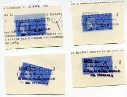 Timbres Fiscaux 2,50 F - Revenue Stamps