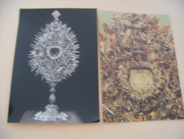 2 CARTES PRUNKMONSTRANZ MIT DER DARSTELLUNG DER SEECHLACHT VON LEPANTO 1571 - Arts