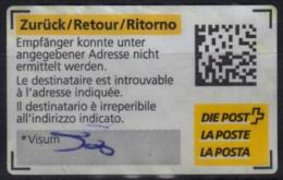 Postal LABEL / RETOUR - Self Adhesive Vignette Label - 2013 Switzerland - Used - Automatenmarken
