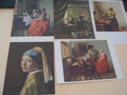 5 CARTES JAN VAN DER MEER OU VERMERE DE DELFT.. - Paintings