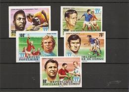 Coupe Du Monde En Argentine -1978 ( 486/90 Non Dentelés Xxx -MNh- Du Congo Brazzaville ) - Copa Mundial