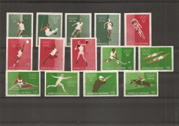 "JO De Rome -1960 ( 667/80 Xxx -MNH- Catalogue ""Michel"") - Summer 1960: Rome"