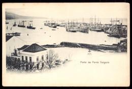 AÇORES / PORTUGAL.Postal Porto De Ponta Delgada. Barcos. Old Postcard - Açores