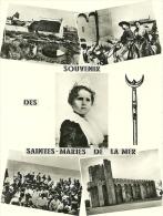 13 LES SAINTES MARIES DE LA MER CABANE DE GARDIAN TRIDENT MIREILLE PELERINAGE EGLISE - Saintes Maries De La Mer