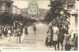 Kre007 KRETA - / Franz. Post Aus Candie (Kreta) Bildpostkarte Mit Strassenszene - Kreta