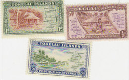 Tokelau-1948 Definitives 1-3 Set MNH - Tokelau