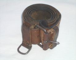 YUGOSLAVIA ARMY - JNA Vintage Military Belt Genuine Leather - Lengths Max. 105. Cm * Militaire Armée Yougoslavie - Equipment