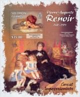 SOLOMON Isl. 2013 MNH** - Pierre-Auguste Renoir, Children S/S - Ohne Zuordnung
