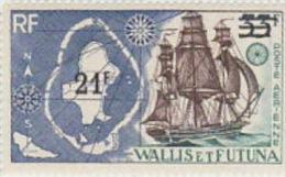 Wallis And Futuna -1971 212fr On 33fr Ship MNH - Wallis And Futuna