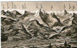 SUISSE ; VD Vaud ,carte Geographique (Panex Et Ses Environs) - VD Vaud