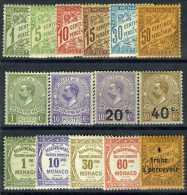 1905-25 MONACO TIMBRES TAXE YVERT ET TELLIER N°1-17 SAUF N°4 ET 10 Xx - Taxe