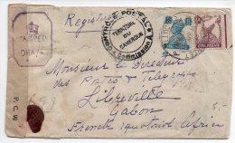 Indes Anglaises : Lettre Avec Censure De 1944 Pour Le GABON - 1936-47  George VI