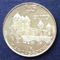 1,5 Euro Temporaire Precurseur De CARCASSONNE 1997,  5000 Ex. Only, RRRR, Laiton, Messing, Nr. 165 J - Euro Der Städte