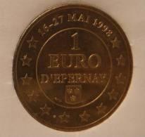 1 Euro Temporaire Precurseur D´EPERNAY 1998, RRRR, BR, Nr. 286 - Euro Der Städte