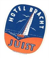 10 Hotel Labels Deutschland Allemagne Duitsland  Elberfeld Hannover  Heidelberg Braunscweig Harz Juist  Berlin Dobel - Hotelaufkleber