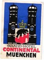10 Hotel Labels GERMANY Duitsland Allemagne   Muenchen Mannheim Leipzig Koln Bremen Lindau  Celle Laacher See - Hotelaufkleber