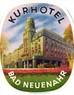 10 Hotel Labels GERMANY Duitsland Allemagne  Neuenahr Munchen Nauheim Cuxhaven Nurnberg Frankfurt Lindau - Hotel Labels