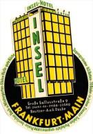 9 Hotel Labels - Etiketten -Koln - Norderney - Nauheim - Hannover - Scwarzwald  - Frankfurt - Dusseldorf - - Hotel Labels