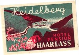 10 Hotel Labels - Etiketten -Berlin 6  Hamburg Bielefeld - Heidelberg GERMANY Duitsland Allemagne - Hotel Labels