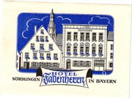 15 Hotel Labels GERMANY Duitsland Allemagne Bayern Norlingen Nauheim Wiesbadeb Schwabach Rudesheim Ulm - Hotelaufkleber