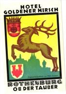 17 Hotel Labels GERMANY Duitsland Allemagne Rothenburg Meissen Bacharach Frankfurt Harz Kongswinter Karlsruhe Offenbach - Hotel Labels