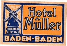 16 Hotel Labels Etiketten GERMANY Duitsland Deutsch Oldendorf  Baden Iserlohn Neckargemund Feldafing Aachen Offenbach - Etiquettes D'hotels