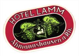 17  Hotel Labels GERMANY Duitsland Deutschland Celle Boppard Schierke Durkheim Neudorf Koblenz Bamberg Konings - Hotel Labels