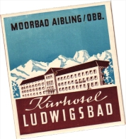 16  Hotel Labels GERMANY Duitsland Deutschland Lubeck Frankfurt Freiburg Garmisch Lahn Hornberg Konstanz - Hotel Labels